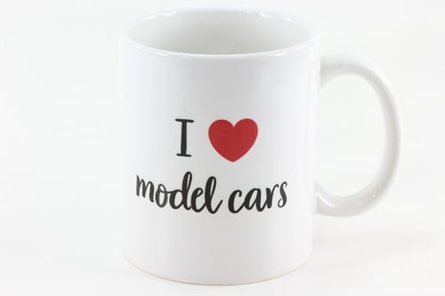 Kaffeebecher 'I love model cars' 300 ml